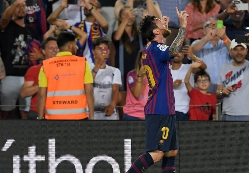 لالیگا، بارسلونا با درخشش مسی گام اول را محکم برداشت