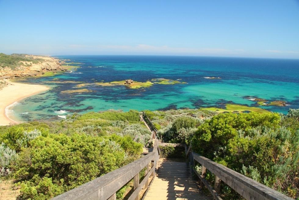 یک ساحل زیبا در استرالیا