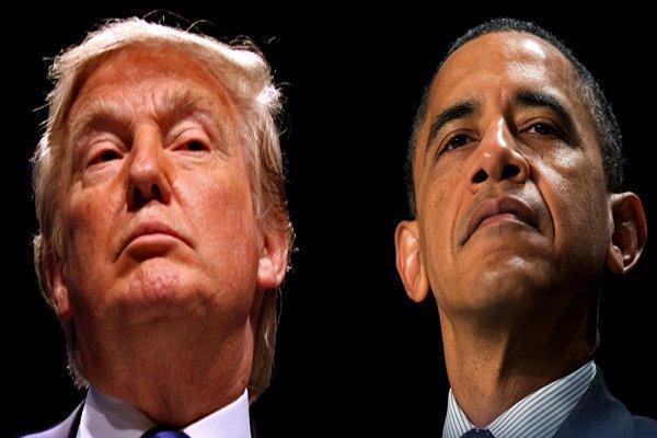 واکنش ترامپ به سخنان اوباما: هنگام تماشای سخنرانی او خوابم بُرد