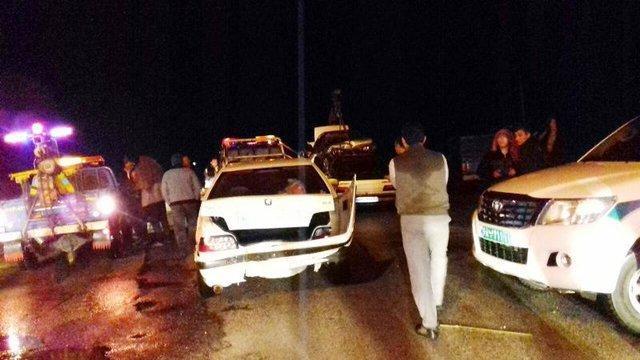 تصادف زنجیره ای 9 خودرو در محور سلماس _ تسوج