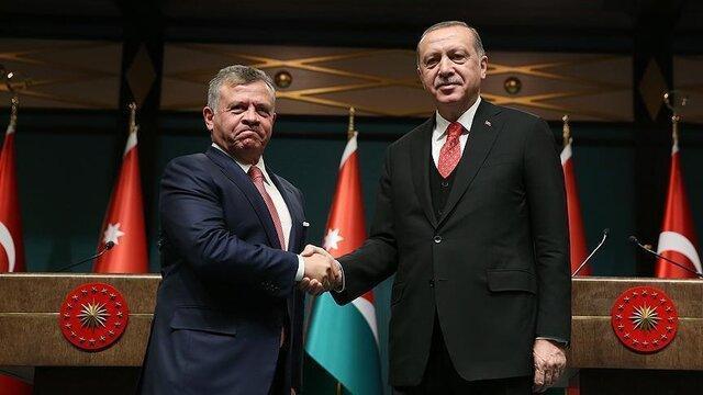 گفت وگوی تلفنی اردوغان با پادشان اردن