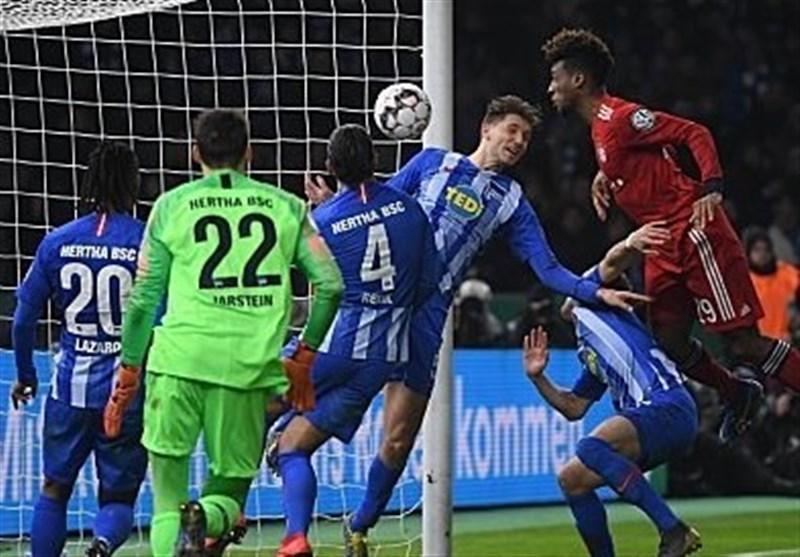 بایرن مونیخ در وقت های اضافه به یک چهارم نهایی جام حذفی آلمان رسید