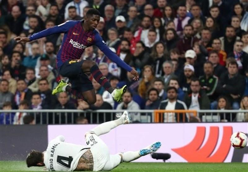 بارسلونا با تکرار پیروزی در برنابئو، رئال را از کورس قهرمانی دورتر کرد