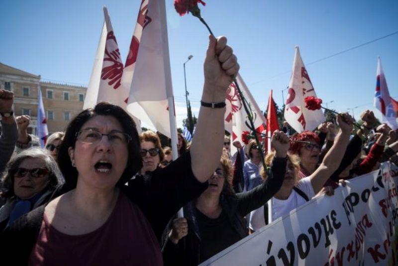 تظاهرات ضدآمریکایی یونانی ها در روز جهانی کارگر