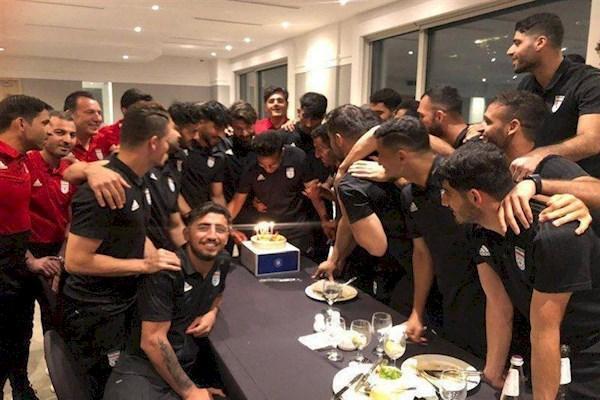 جشن تولد کاپیتان تیم ملی در سئول