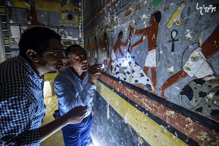 کشف مقبره 4000 ساله مصری که انگار تازه نقاشی شده!