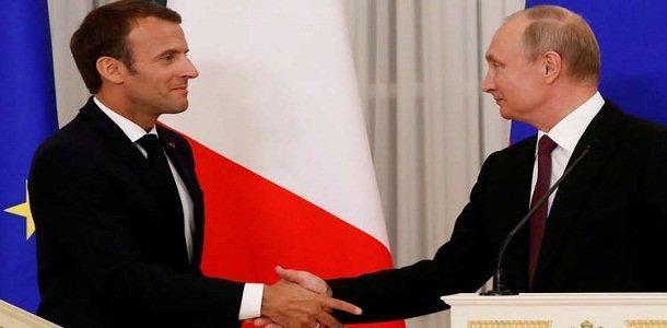 ماکرون دعوت پوتین را برای دیدار از روسیه پذیرفت