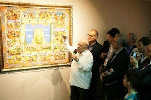 افتتاح نمایشگاه آثار نقاشی، مجسمه و پوستر هنرمند روس با مضمون شاهنامه در مشهد