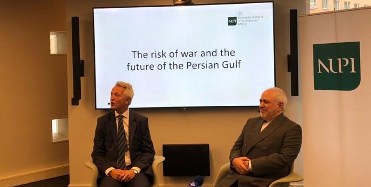 ظریف در موسسه امور بین الملل نروژ: امنیت در خلیج فارس و تنگه هرمز بدون ایران امکانپذیر نیست