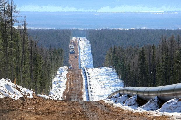 گاز روسیه به چین می رسد