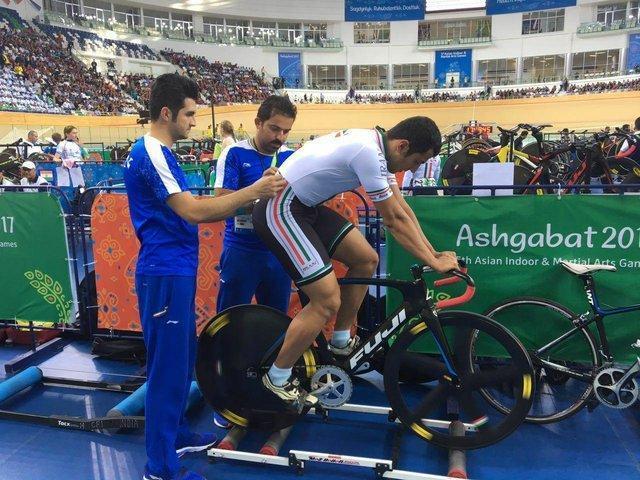 جدال دو رکابزن ایران در نیمه نهایی اسپرینت بازی های داخل سالن آسیا