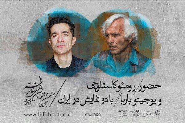 رومئو کاستلوچی و یوجینو باربا به ایران می آیند
