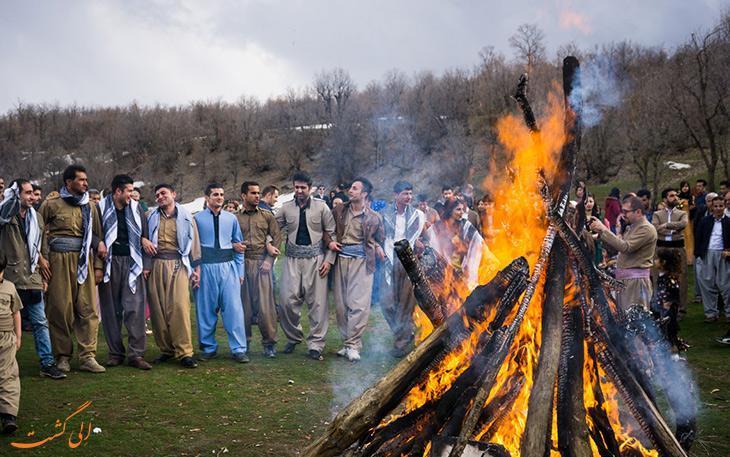 آشنایی با رسم و رسوم جالب چهارشنبه سوری در کردستان