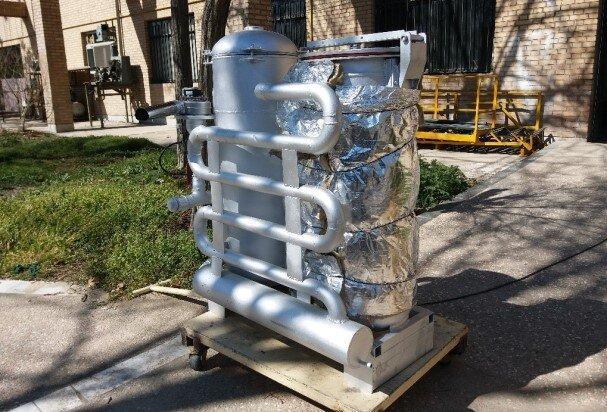 دستگاه گازی ساز زیست توده از نوع پایین سو ساخته شد