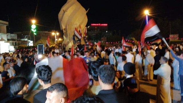 پلیس کربلا با معترضان درگیر شد