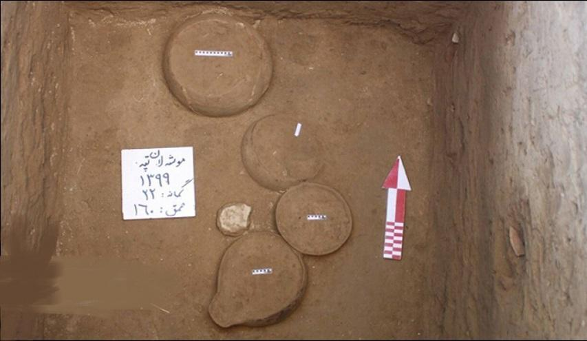 کشف 6 ظرف سفالی هفت هزارساله در ساوجبلاغ البرز