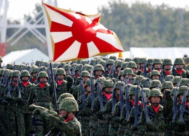 چوب حراج به وسایل ارتش ژاپن