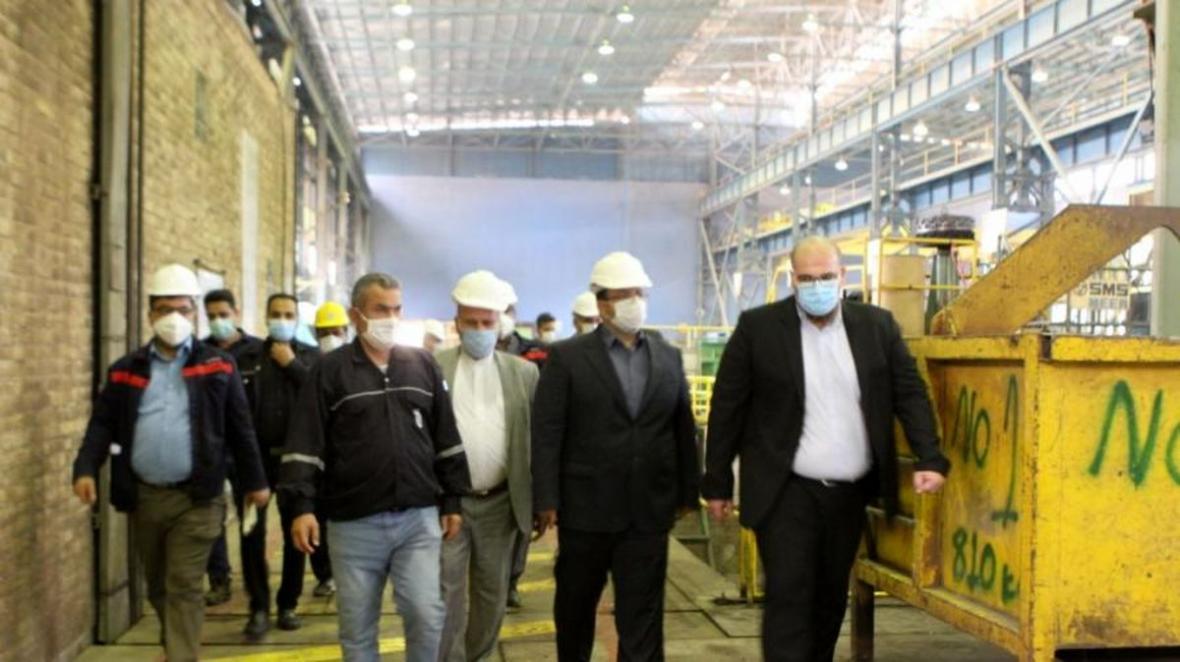 بازدید مدیرعامل و اعضای هیأت مدیره شرکت فولاد اکسین از شرکت لوله سازی ماهشهر