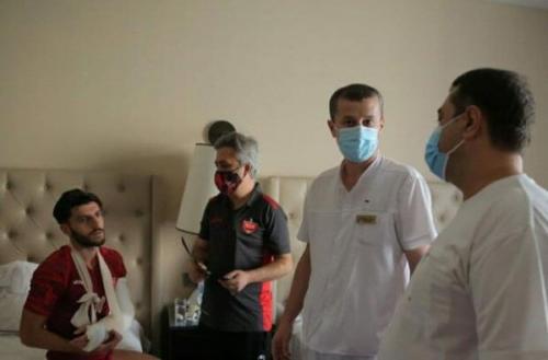 اقدام انسان محبت آمیز تاجیکستانی ها بعد از مصدومیت مهاجم پرسپولیس